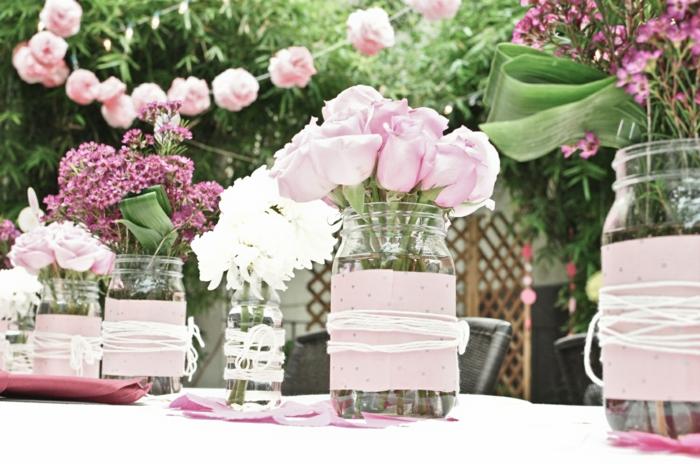 wedding decoration trends pink roses of course