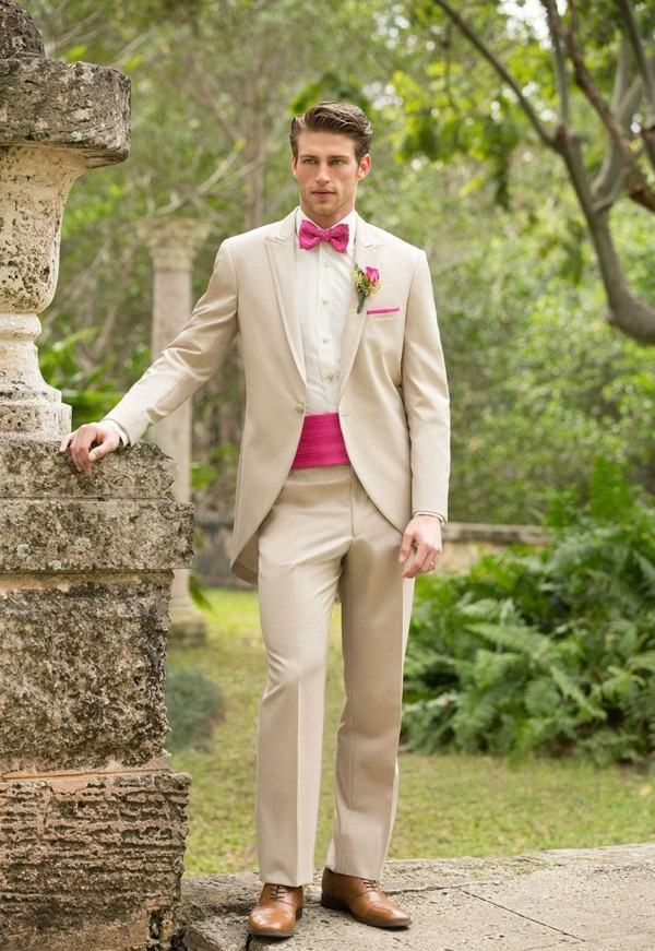 wedding fashion mens colored accent suits groom