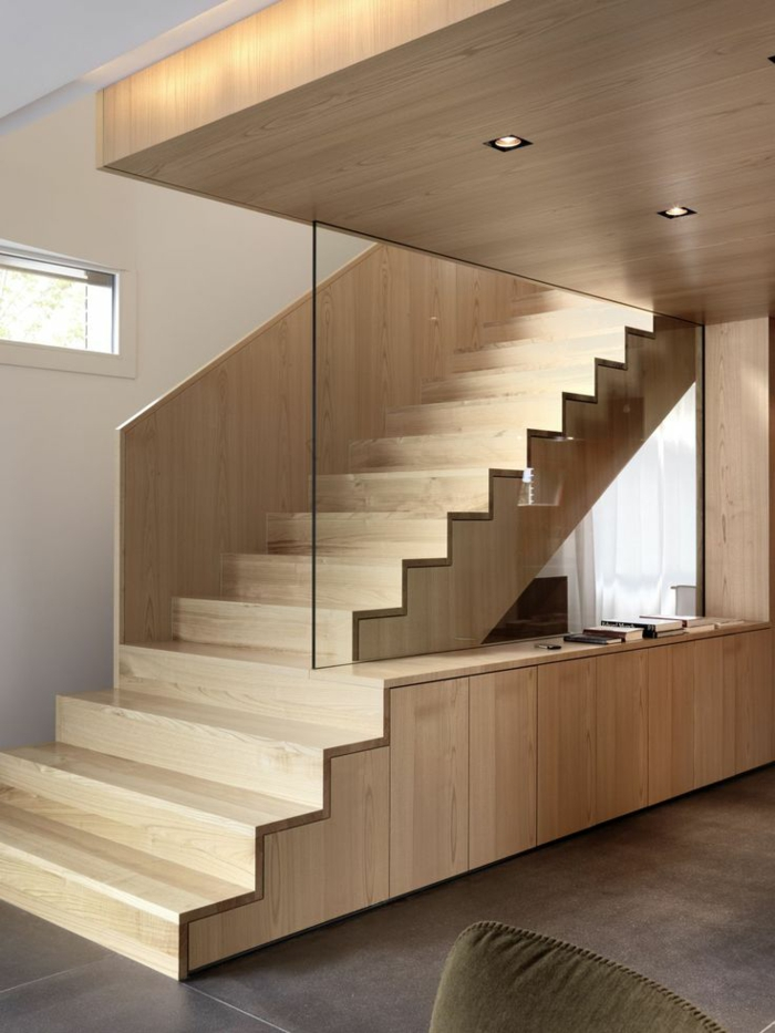 Renovate staircases unusual wooden stairs glass pane