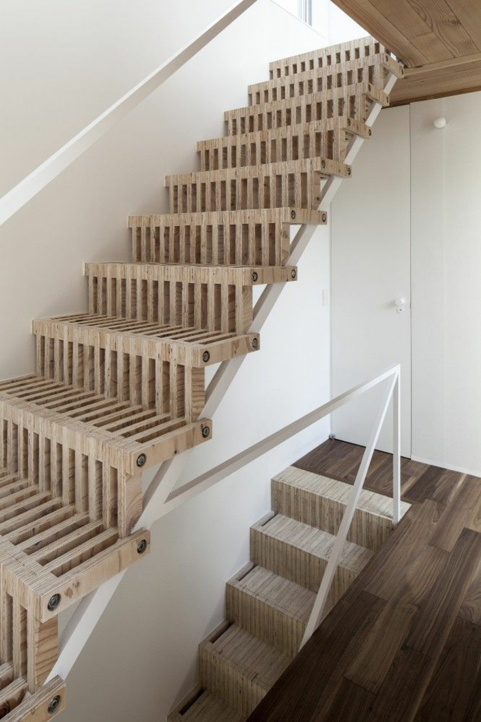 staircases themselves build examples of modern wooden stairs