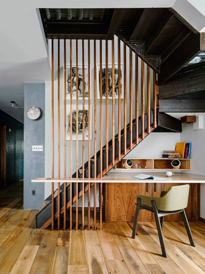 staircases themselves build modern wooden stairs with desk