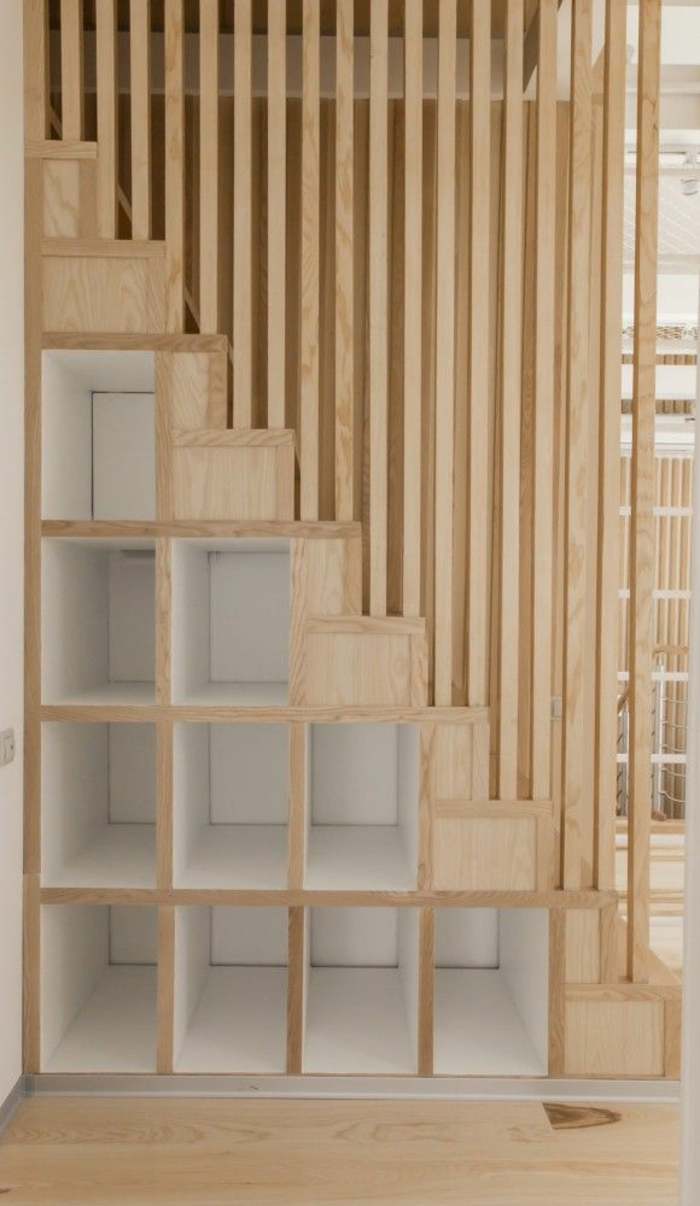 staircases themselves build modern wooden stairs with storage space