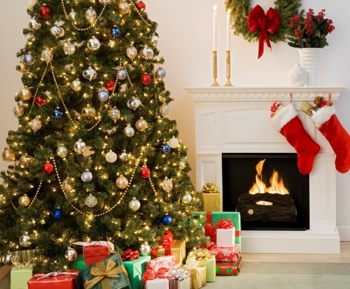 interior living room christmas christmas tree gifts family feasts cozy