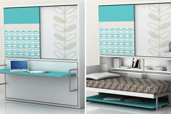 Smart designs with folding bed soothing turquoise