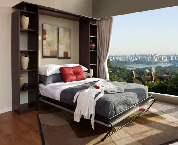 smart designs with folding bed with stunning views