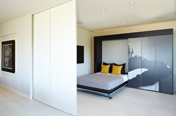 Smart designs with folding bed sliding wall and hidden bed