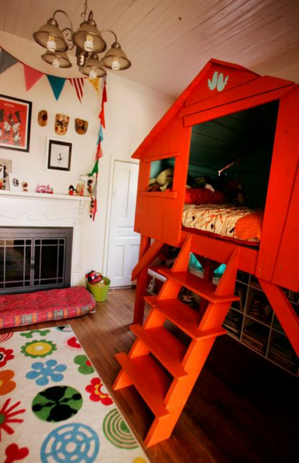 interior design ideas children bedroom tree house as a bed