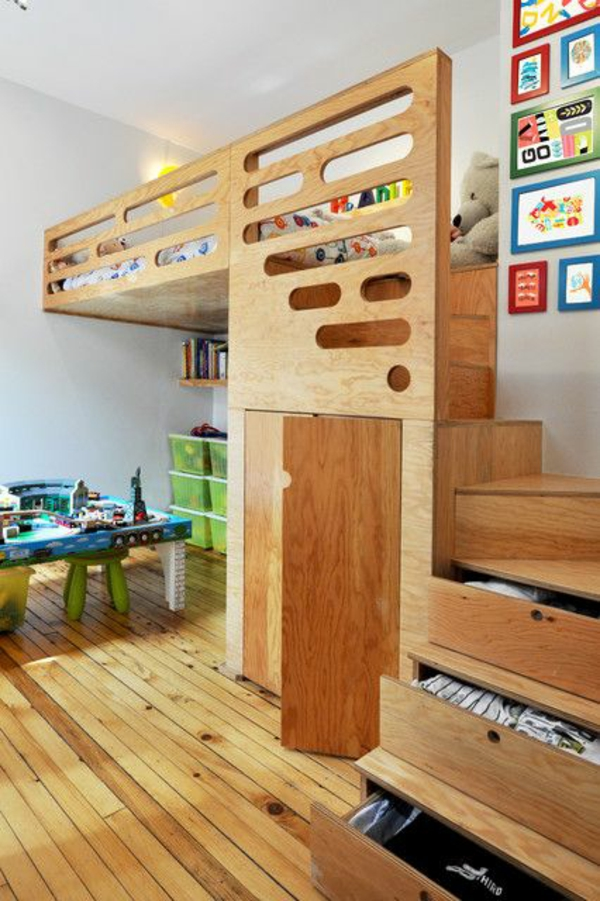 interior ideas for nursery bed on second floor stairs