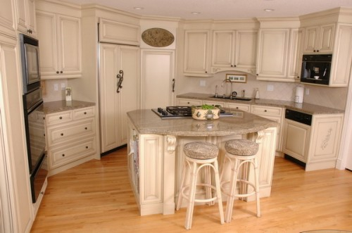 kitchen island idea bright wooden furniture flooring compact french country style