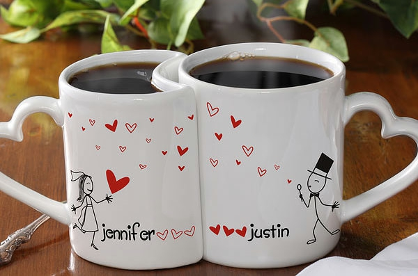 Coffee cup to paint yourself in love love wedding