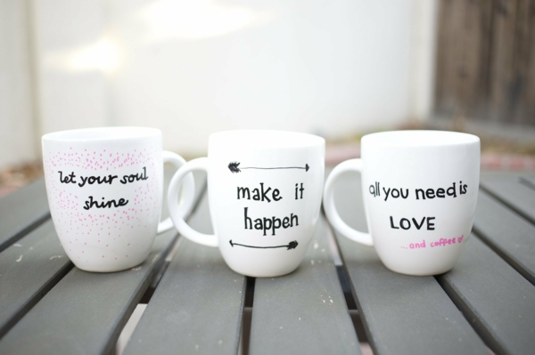 Coffee cup itself label great sayings