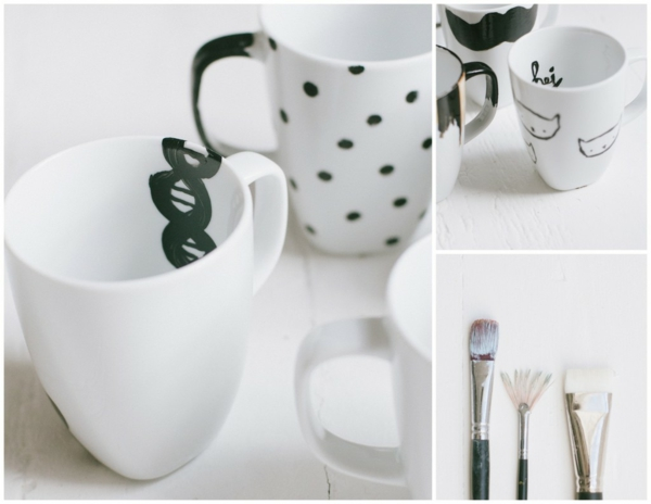 coffee cup custom design colors brush