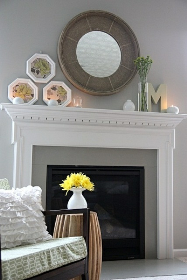 mantel spring decoration modern simple