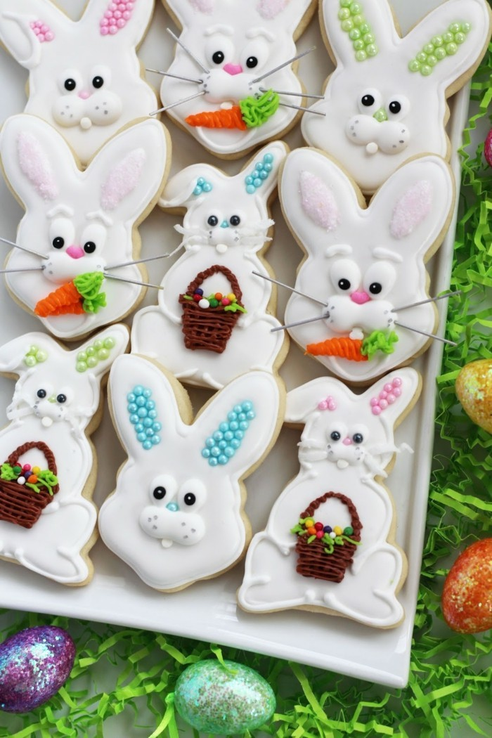 biscuits to bake yourself deco ideas easter bunnies