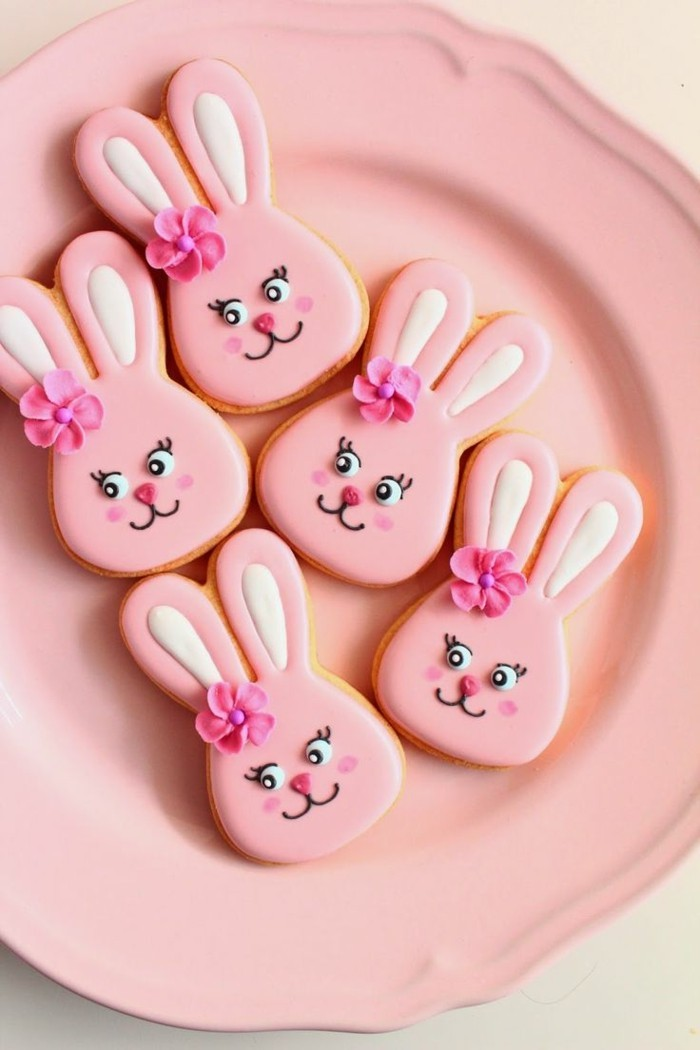 decorate cookies easter bunny decorate cute girl