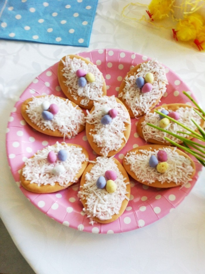biscuits ornate easter biscuits bird nest easter eggs