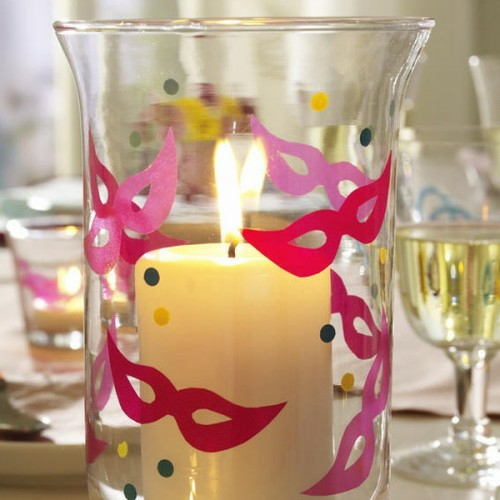 candles decoration ideas garden glasses colorful interest