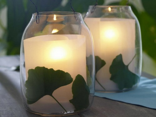 candles decoration ideas garden holder glasses