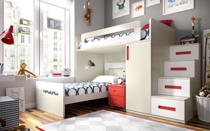 children's high bed design practical cabinet stairs drawers