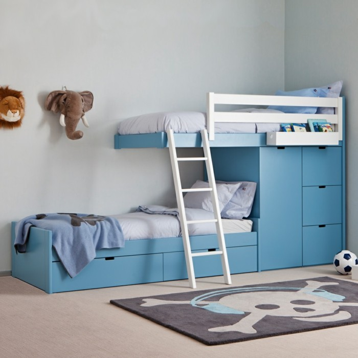 children's high bed wardrobe staircase carpet