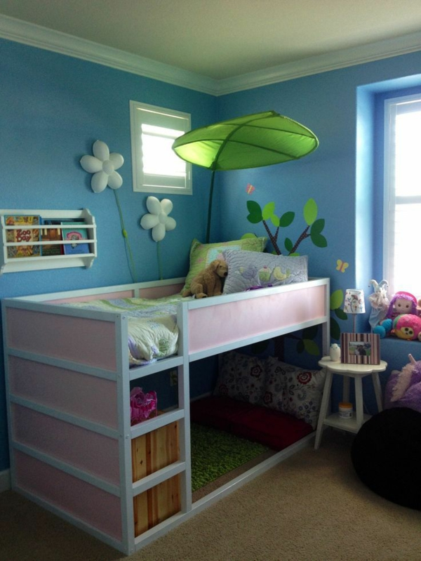 kids room design ideas bed with travel