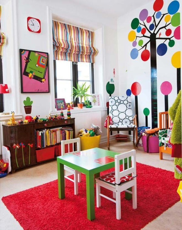 children's room design travel wall design wall stickers kunte furnishing ideas