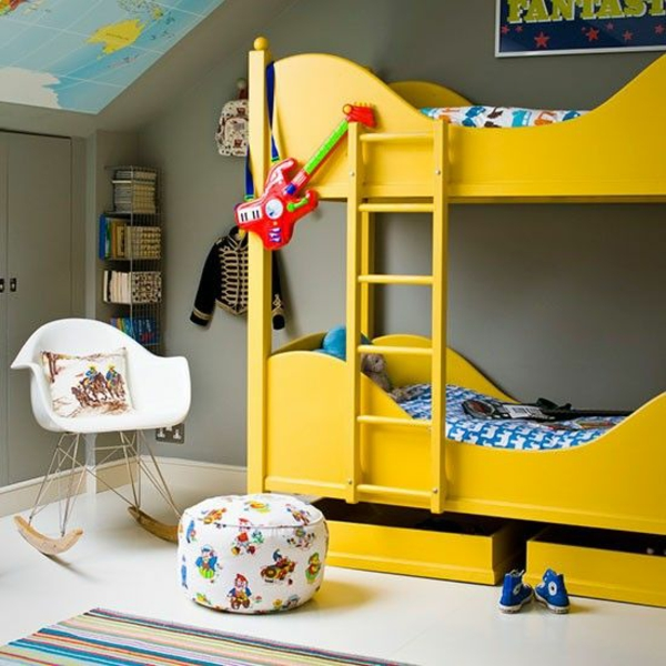 nursery ideas in contemporary style bunk yellow