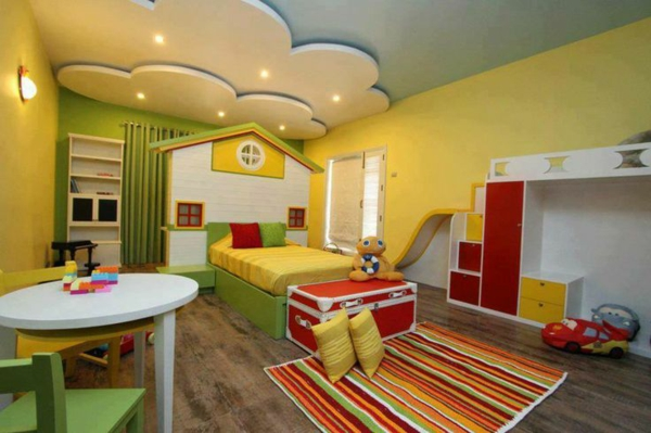 children's room funny home decor clouds ceiling cupboard