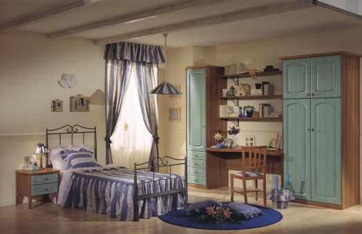 classic nursery furnishings purple bedding wall shelves