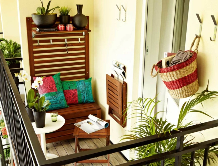 small balcony shape throw pillow plants