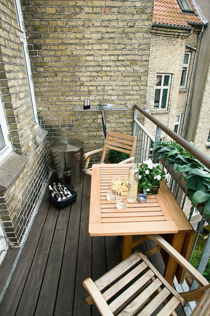 small balcony shape folding balcony furniture plant wooden floor