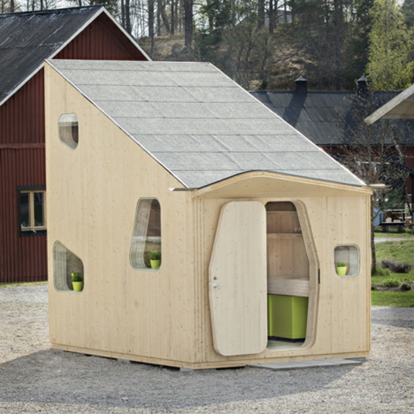 small wooden house Student House Unit Tengbom