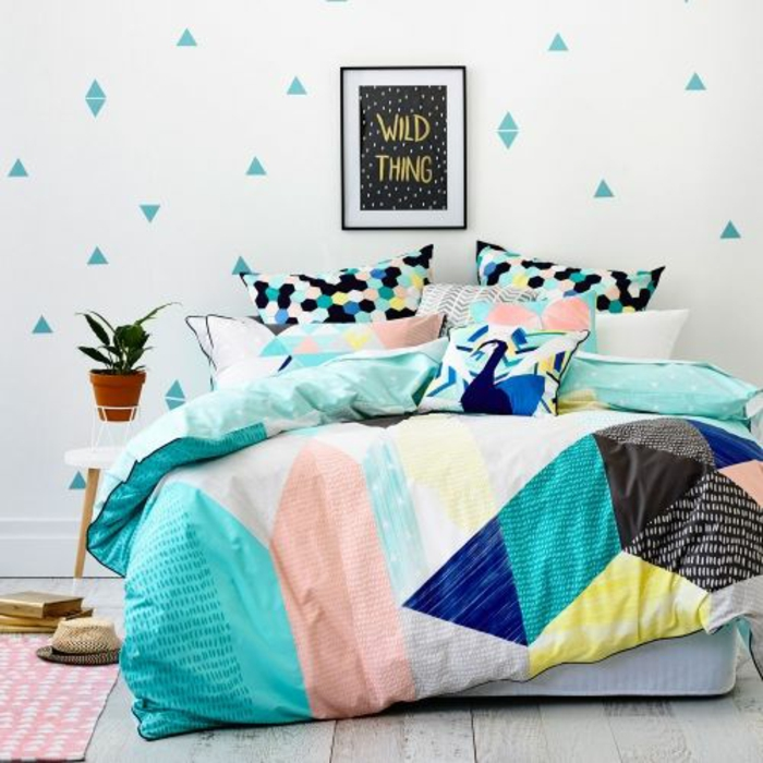 boho chic modern colorful bedding