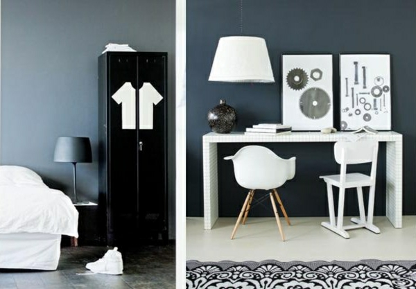 creative wall design ideas wall paint dove blue