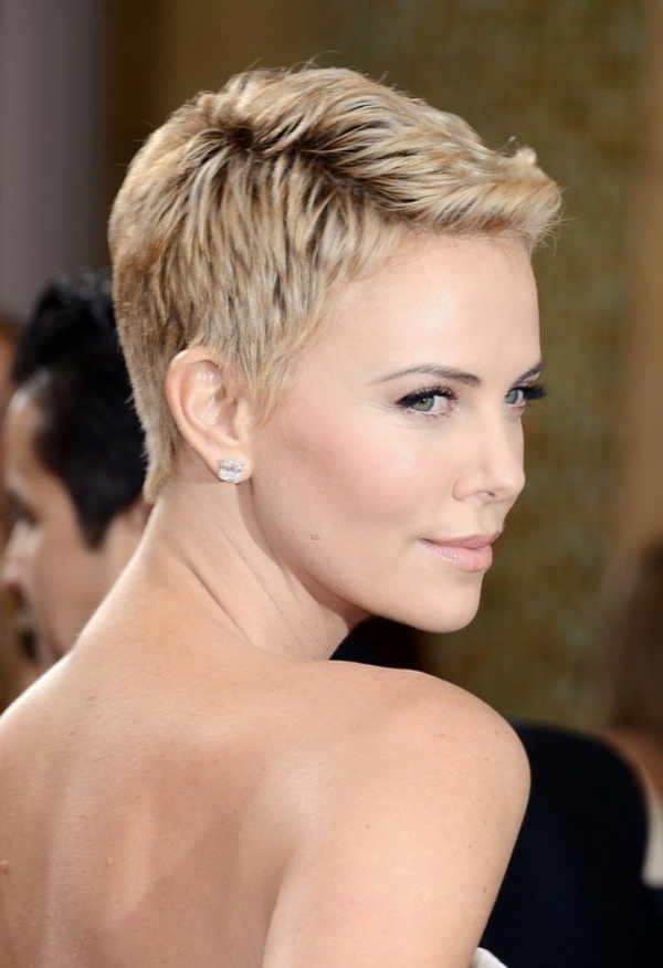 short hairstyles modern 2015 summer cut pixie blond charlize theron