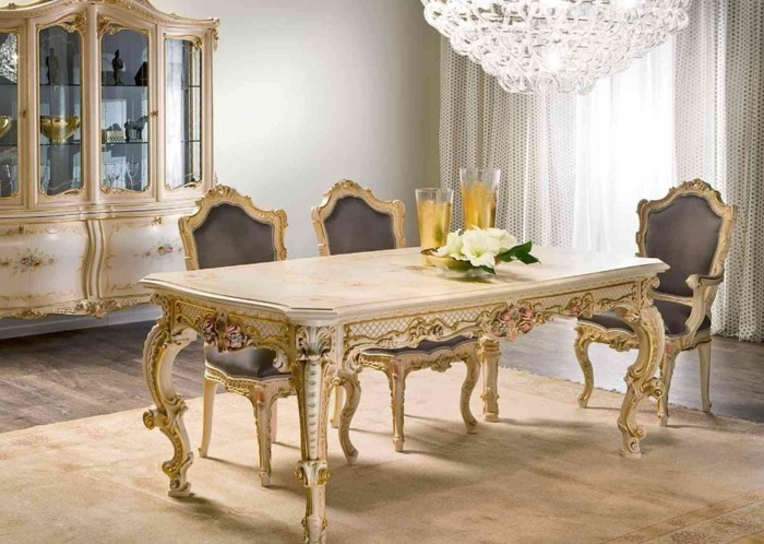 country style french elegant furniture dinning room