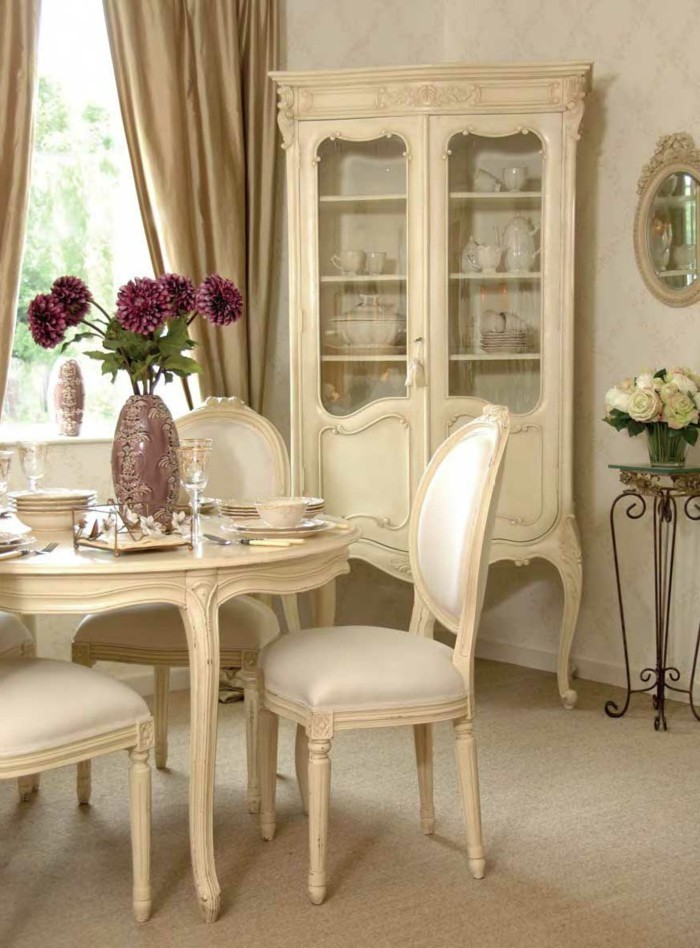 country style french dining room set up ideas