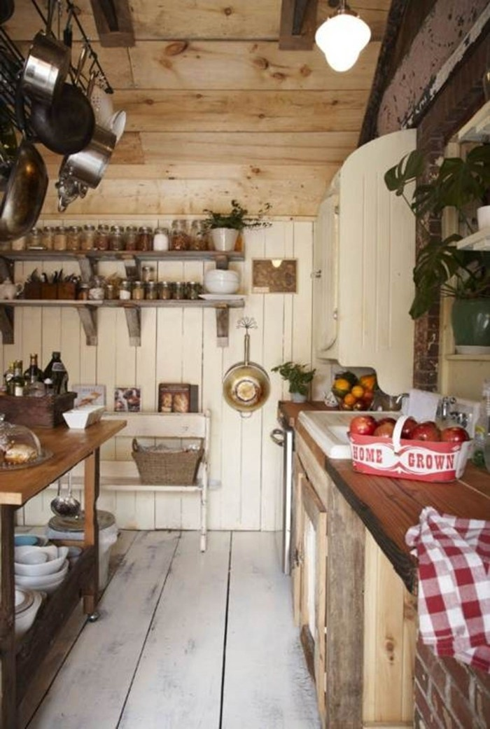 country style french kitchen wood