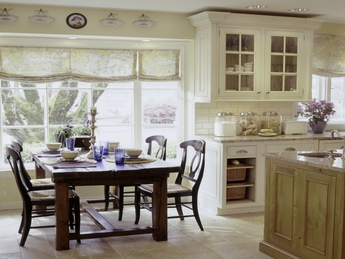 country style french style kitchen dining room
