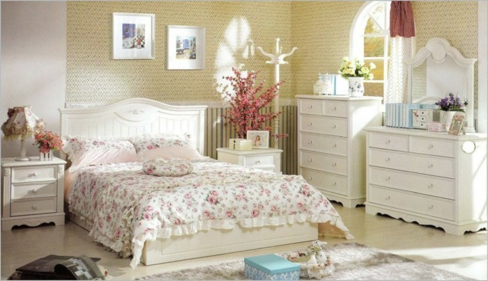 country style french style bedroom floral pattern