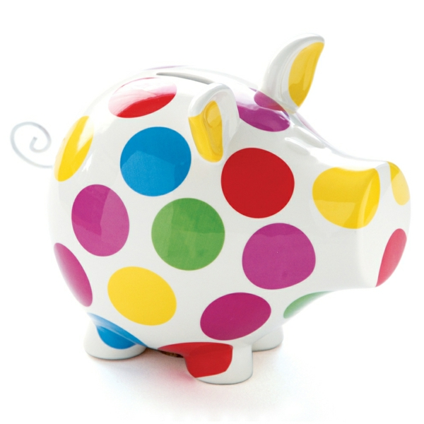 funny money boxes colored pig design