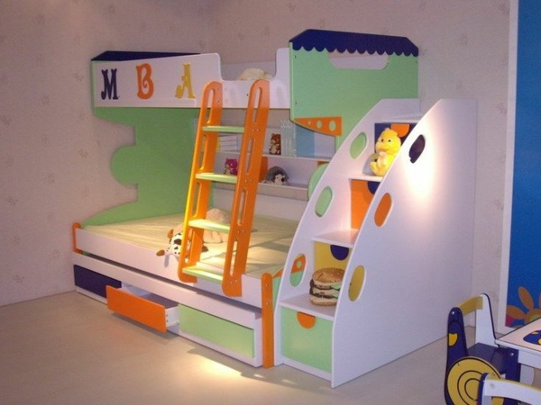 funny bed in the nursery storage room