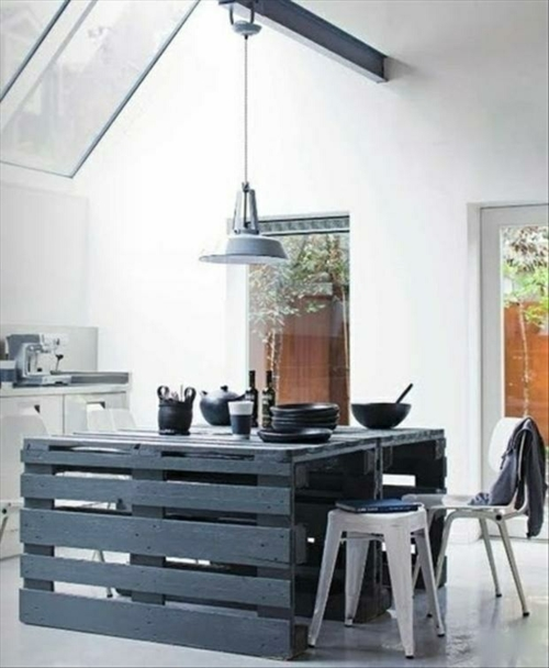furniture pallet dining table black