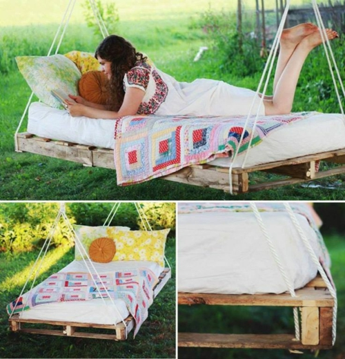 furniture pallets hanging bed