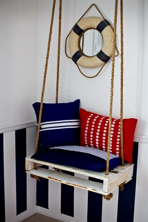 furniture pallets hanging maritime