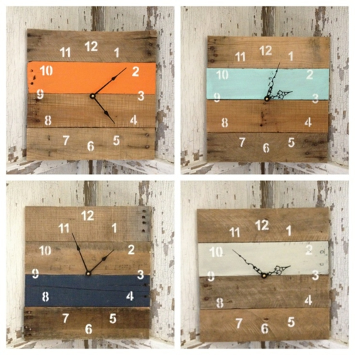 furniture made of pallets creative wall clock