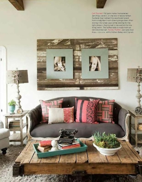 furniture pallets robust coffee table wall decoration
