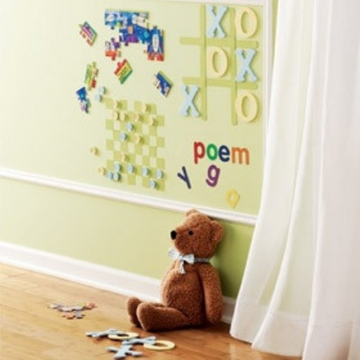 magnetic board in the nursery teddybear