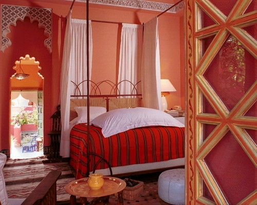 Moroccan bedroom decoration ideas canopy