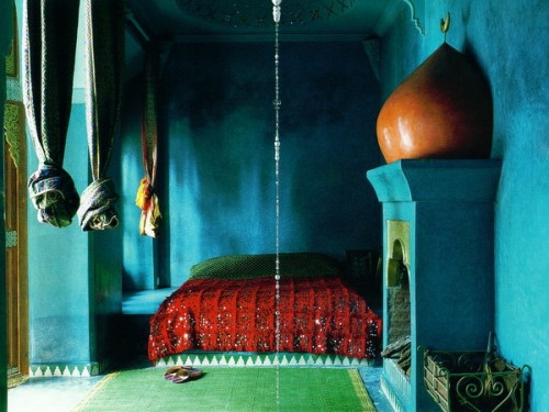oriental bedroom designs blue